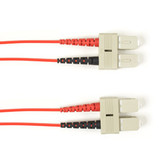 Multimode, 10-GbE 50-Micron OM3, Multicolored Fiber Optic Patch Cable, Plenum, SC SC, Red, 1-m (3.2-ft)