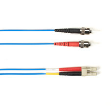 Multimode, 10-GbE 50-Micron OM3, Multicolored Fiber Optic Patch Cable, Plenum, ST LC, Blue, 1-m (3.2-ft)