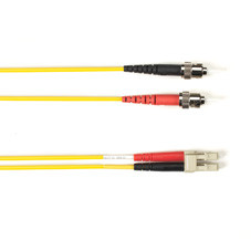 Multimode, 10-GbE 50-Micron OM3, Multicolored Fiber Optic Patch Cable, Plenum, ST LC, Yellow, 1-m (3.2-ft)