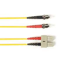 Multimode, 10-GbE 50-Micron OM3, Multicolored Fiber Optic Patch Cable, Plenum, ST SC, Yellow, 1-m (3.2-ft)