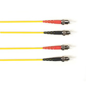 Multimode, 10-GbE 50-Micron OM3, Multicolored Fiber Optic Patch Cable, Plenum, ST-ST, Yellow, 1-m (3.2-ft)