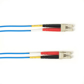 Multimode, 10-GbE 50-Micron OM3, Multicolored Fiber Optic Patch Cable, Plenum, LC MT-RJ, Blue, 2-m (6.5-ft.)