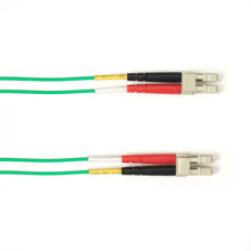 Multimode, 10-GbE 50-Micron OM3, Multicolored Fiber Optic Patch Cable, Plenum, LC MT-RJ, Green, 2-m (6.5-ft.)