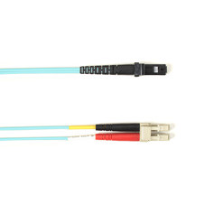 Multimode, 10-GbE 50-Micron OM3, Multicolored Fiber Optic Patch Cable, Plenum, LC MT-RJ, Aqua, 2-m (6.5-ft.)