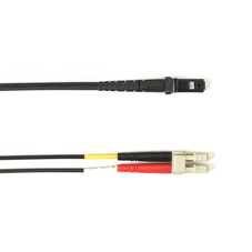 Multimode, 10-GbE 50-Micron OM3, Multicolored Fiber Optic Patch Cable, Plenum, LC MT-RJ, Black, 2-m (6.5-ft.)