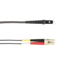 Multimode, 10-GbE 50-Micron OM3, Multicolored Fiber Optic Patch Cable, Plenum, LC MT-RJ, Gray, 2-m (6.5-ft.)
