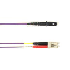 Multimode, 10-GbE 50-Micron OM3, Multicolored Fiber Optic Patch Cable, Plenum, LC MT-RJ, Pink, 2-m (6.5-ft.)