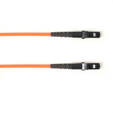Multimode, 10-GbE 50-Micron OM3, Multicolored Fiber Optic Patch Cable, Plenum, MT-RJ MT-RJ, Orange, 2-m (6.5-ft.)