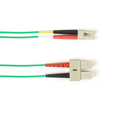Multimode, 10-GbE 50-Micron OM3, Multicolored Fiber Optic Patch Cable, Plenum, SC LC, Green, 2-m (6.5-ft.)