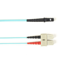 Multimode, 10-GbE 50-Micron OM3, Multicolored Fiber Optic Patch Cable, Plenum, SC MT-RJ, Aqua, 2-m (6.5-ft.)