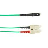 Multimode, 10-GbE 50-Micron OM3, Multicolored Fiber Optic Patch Cable, Plenum, SC MT-RJ, Green, 2-m (6.5-ft.)