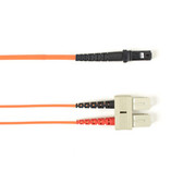 Multimode, 10-GbE 50-Micron OM3, Multicolored Fiber Optic Patch Cable, Plenum, SC MT-RJ, Orange, 2-m (6.5-ft.)