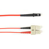 Multimode, 10-GbE 50-Micron OM3, Multicolored Fiber Optic Patch Cable, Plenum, SC-MT-RJ, Red, 2-m (6.5-ft.)