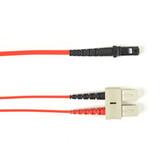 Multimode, 10-GbE 50-Micron OM3, Multicolored Fiber Optic Patch Cable, Plenum, SC-MT-RJ, Red, 2-m (6.5-ft.)