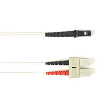 Multimode, 10-GbE 50-Micron OM3, Multicolored Fiber Optic Patch Cable, Plenum, SC MT-RJ, White, 2-m (6.5-ft.)