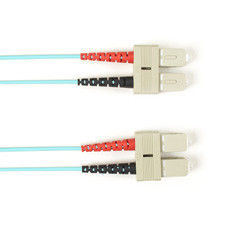 Multimode, 10-GbE 50-Micron OM3, Multicolored Fiber Optic Patch Cable, Plenum, SC SC, Aqua, 2-m (6.5-ft.)