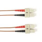 Multimode, 10-GbE 50-Micron OM3, Multicolored Fiber Optic Patch Cable, Plenum, SC SC, Brown, 2-m (6.5-ft.)