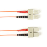 Multimode, 10-GbE 50-Micron OM3, Multicolored Fiber Optic Patch Cable, Plenum, SC SC, Orange, 2-m (6.5-ft.)