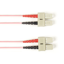 Multimode, 10-GbE 50-Micron OM3, Multicolored Fiber Optic Patch Cable, Plenum, SC SC, Pink, 2-m (6.5-ft.)
