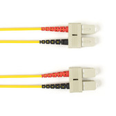 Multimode, 10-GbE 50-Micron OM3, Multicolored Fiber Optic Patch Cable, Plenum, SC SC, Yellow, 2-m (6.5-ft.)