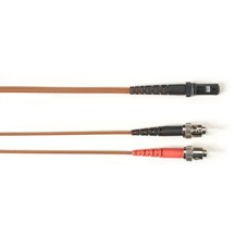 Multimode, 10-GbE 50-Micron OM3, Multicolored Fiber Optic Patch Cable, Plenum, ST MT-RJ, Brown, 2-m (6.5-ft.)