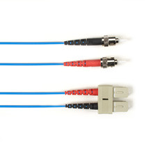 Multimode, 10-GbE 50-Micron OM3, Multicolored Fiber Optic Patch Cable, Plenum, ST-SC, Blue, 2-m (6.5-ft.)