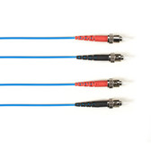 Multimode, 10-GbE 50-Micron OM3, Multicolored Fiber Optic Patch Cable, Plenum, ST-ST, Blue, 2-m (6.5-ft.)