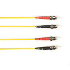 Multimode, 10-GbE 50-Micron OM3, Multicolored Fiber Optic Patch Cable, Plenum, ST-ST, Yellow, 2-m (6.5-ft.)