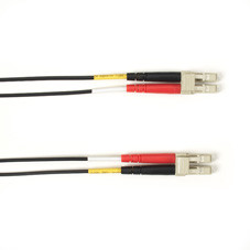 Multimode, 10-GbE 50-Micron OM3, Multicolored Fiber Optic Patch Cable, Plenum, LC MT-RJ, Black, 3-m (9.8-ft.)