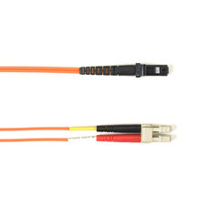 Multimode, 10-GbE 50-Micron OM3, Multicolored Fiber Optic Patch Cable, Plenum, LC MT-RJ, Orange, 3-m (9.8-ft.)