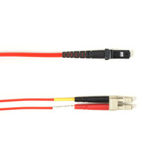 Multimode, 10-GbE 50-Micron OM3, Multicolored Fiber Optic Patch Cable, Plenum, LC MT-RJ, Red, 3-m (9.8-ft.)