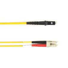 Multimode, 10-GbE 50-Micron OM3, Multicolored Fiber Optic Patch Cable, Plenum, LC MT-RJ, Yellow, 3-m (9.8-ft.)