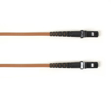 Multimode, 10-GbE 50-Micron OM3, Multicolored Fiber Optic Patch Cable, Plenum, MT-RJ MT-RJ, Brown, 3-m (9.8-ft.)