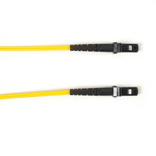 Multimode, 10-GbE 50-Micron OM3, Multicolored Fiber Optic Patch Cable, Plenum, MT-RJ MT-RJ, Yellow, 3-m (9.8-ft.)