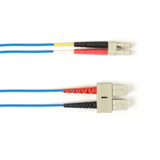 Multimode, 10-GbE 50-Micron OM3, Multicolored Fiber Optic Patch Cable, Plenum, SC LC, Blue, 3-m (9.8-ft.)