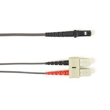 Multimode, 10-GbE 50-Micron OM3, Multicolored Fiber Optic Patch Cable, Plenum, SC MT-RJ, Gray, 3-m (9.8-ft.)