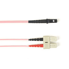 Multimode, 10-GbE 50-Micron OM3, Multicolored Fiber Optic Patch Cable, Plenum, SC MT-RJ, Pink, 3-m (9.8-ft.)