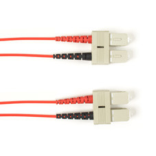 Multimode, 10-GbE 50-Micron OM3, Multicolored Fiber Optic Patch Cable, Plenum, SC SC, Red, 3-m (9.8-ft.)
