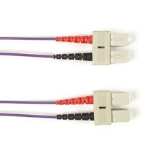 Multimode, 10-GbE 50-Micron OM3, Multicolored Fiber Optic Patch Cable, Plenum, SC SC, Violet, 3-m (9.8-ft.)
