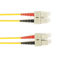Multimode, 10-GbE 50-Micron OM3, Multicolored Fiber Optic Patch Cable, Plenum, SC SC, Yellow, 3-m (9.8-ft.)