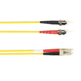 Multimode, 10-GbE 50-Micron OM3, Multicolored Fiber Optic Patch Cable, Plenum, ST LC, Yellow, 3-m (9.8-ft.)