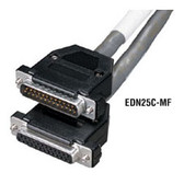 Extended-Distance Data Cable with Removable Hoods, 12 Conductors (6 Pairs), 35-ft., F/F