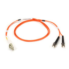 Multimode, 50-Micron Duplex Fiber Optic Cable, PVC, LC ST, 3-m (9.8-ft.)