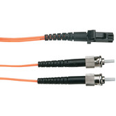 Economy Ceramic Multimode, 62.5-Micron Fiber Optic Patch Cable, ST MT-RJ, Duplex Riser, 5-m (16.4-ft.)