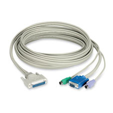 CAT5 Extender Cable with DDC Support, 3-ft. (0.9-m)