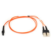 Multimode, 50-Micron Duplex Fiber Optic Cable, PVC, MT-RJ SC, 1-m (3.2-ft.)