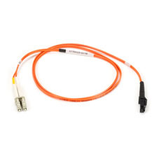 Multimode, 50-Micron Duplex Fiber Optic Cable, PVC, MT-RJ LC, 1-m (3.2-ft.)