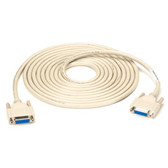 DB15 Thumbscrew Cable, Female/Female, 10-ft. (3.0-m)