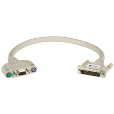 ServSwitch to Keyboard/Monitor/Mouse Cable, PS/2 Coax, 5-ft. (1.5-m)