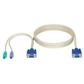 ServSwitch CPU Cable for EC Series & DT Low Profile Series, PS/2, 6-ft. (1.8-m)